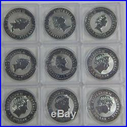 1990 2019 Complete Set (30) Australia 1 Oz. Silver Kookaburra Coins