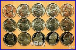 1990 2020 COMPLETE PD & S Jefferson BU, Proof & Special Release 101 Nickel Set