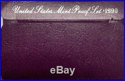 1990 No S Lincoln Memorial Penny Original Rare Complete Proof Set Major Variety