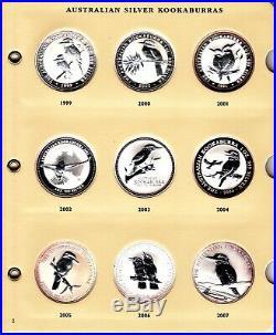 1990 to 2019 AUSTRALIAN SILVER KOOKABURRA 1 OZ BU (Complete Set of 30 coins)