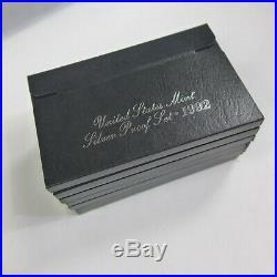 1992S 1998S U. S. Mint 90% SILVER COMPLETE BLACK BOX PROOF SET RUN 7 SETS