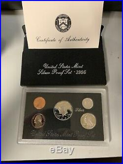 1992 1998 Complete Run Of U. S. Silver Proof Sets