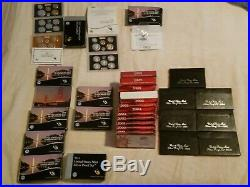 1992-2019 complete silver proof sets, with origanal boxs and COA. 29 sets