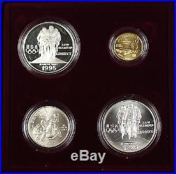 1995-96 Complete U. S. Mint Olympic 32 Coin Commemorative Proof & UNC Set DGH