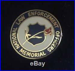 1997 Law Enforcement Proof Silver Dollar Pin and Patch Insignia Set Complete