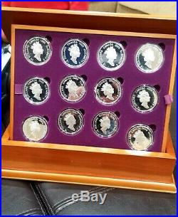 1998 2009 Canada Complete Serie Chinese Lunar Coin Set In Box Silver Gold Plated