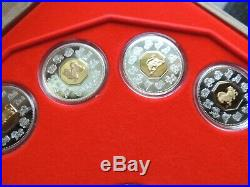 1998 2009 Canada Complete Serie Chinese Lunar Coin Set W Medaillon Gold Silver