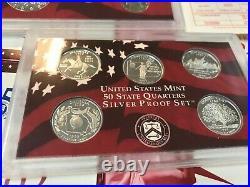 19992010 (12)X U. S. Mint SILVER PROOF sets90% SILVER (Complete Run) L@@K