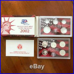 1999-2008-2009 Silver Proof 56 Pc State Quarter 11 Yr Set Complete-Boxes & COA's