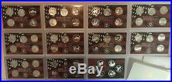 1999 2008 & 2009 Silver Proof Complete Set State Territory Quarter 56 Quarters