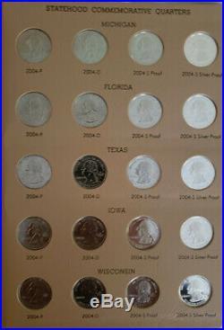 1999-2008 Complete Quarter Set P, D, S, S In 2 Dansco Albums, 200 Coin Set