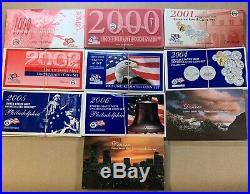 1999 2008 Complete Run Of U. S. Mint Sets #9672
