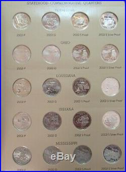 1999 2008 Complete Set Including Proofs of State Quarters in two Dansco Albums