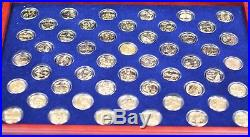 1999- 2008 Complete State Quarters Collection 24 Kt Gold Plated 50 Coin Set