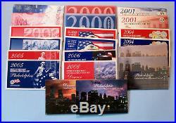 1999 2008 Mint Sets Ten Sets-Complete-1999 through 2008