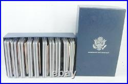 1999 2008 US Mint Silver Proof Sets State Quarters Complete With Box