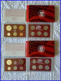 1999-2008 US Mint Silver Proof Sets - complete sets, 50 State Quarter Series