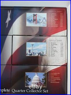 1999-2009, 50 State Quarters, Plus Territorys, Complete Set in Collectors Box