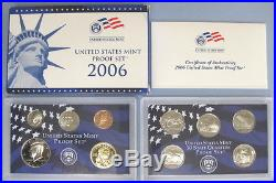 1999 2009 Complete Run of 11 Government Issued Proof Sets with Boxes and COAs