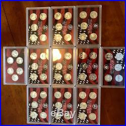 1999-2009 Complete Silver Proof 56 Pc State/Terr Quarter Set 11 Years Sealed