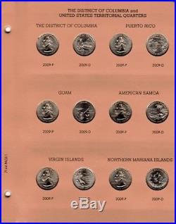 1999-2009 Complete State & Terr Quarter Set 112 P&d Bu Coins In A Dansco Album