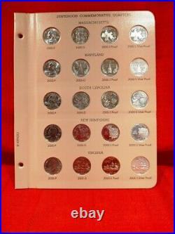 1999-2009 Complete State & Terr Quarter Set Pds & Silver Proofs In Dansco Albums