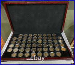 1999- 2009 Complete State & Territory Quarters Set 24 Kt Gold Plated 56 Coins