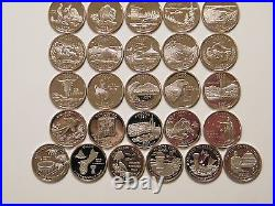 1999-2009 S Silver State Quarters Proof Complete 56 Coins & DC Territories set