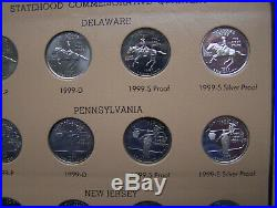 1999-2009 State Quarter Complete Set P D S and S Silver Proof in Dansco Albums