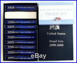 1999 2009 US Mint State Quarters Clad Proof Complete Set