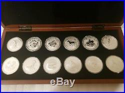 1999-2010 AUSTRALIA Perth Mint SILVER LUNAR COMPLETE SET 12 COIN 1OZ Series I BU
