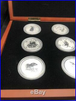 1999-2010 AUSTRALIA SILVER LUNAR COMPLETE SET 12 COINS 1 Ounce Series I BU