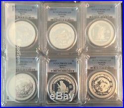1999-2010 Australia Lunar 1 Silver Proof 1 oz set complete