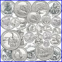 1999 2017 Complete Set of State Quarters, Territories, Parks P D 1999 2017