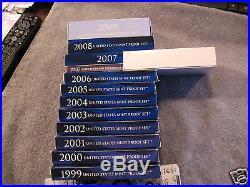 1999s Thru 2009s Mint Proof Set In Ogp-complete