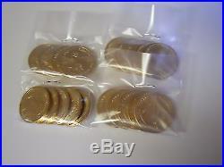 1 of Ea President P&D (78 Coins) 2007-2016 Complete Set $1 Golden Dollars. UNC