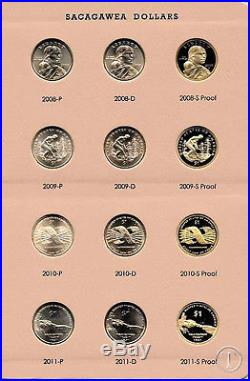 2000-2017 COMPLETE P D and S Sacagawea Native American Dollar Set- Dansco Album