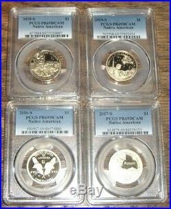 2000-2019 Complete Pcgs Pr69dcam Sacagawea Native American 20 Coin $1 Set