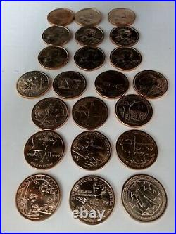 2000 2021 P & D Complete 44 Coins UNCIRCULATED Sacagawea Native American Set