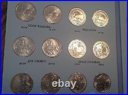 2000-2021 Sacagawea/Native American Dollars 44 coin Complete BU/UNC Set WithAlbums