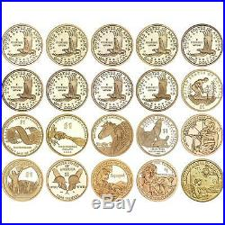2000 to 2019 S Native American Sacagawea Proof Dollar Run 20 Coin Complete Set