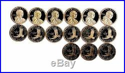 2000 to 2020 S Native American Sacagawea Proof Dollar Run 21 Coin Complete Set