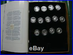 2001-2002-2003 Festivals of Canada Silver 50 Cent Series Complete Set of 13