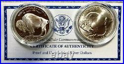 2001 American Buffalo Commemorative Coins 2-Coin Set -Complete Mint Pack&COA