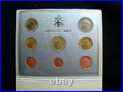 2003 Italy Vatican rare official complete set euro coins UNC John Paul II