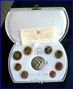 2003 Italy Vatican rare official complete set euro coins UNC PROOF John Paul II