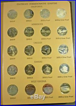 2004 2008 State Quarter P D S Proof Silver Proof And Bu Complete Set 100 Coins