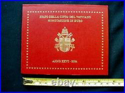 2004 Italy Vatican rare official complete set euro coins UNC John Paul II