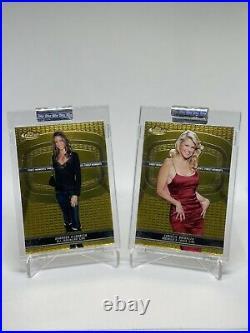 2005-06 Topps Finest Celebrity Gold Foil Uncirculated Complete Set RareS/N 399