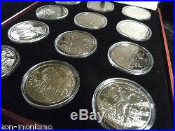 2005-2007 Sierra Leone AFRICAN ANIMALS Complete 12 COIN CuproNickel Set in BOX